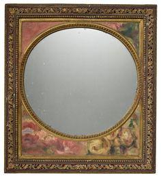 PIERRE-AUGUSTE RENOIR (1841-1919) Jetée de fleurs – décoration d'un miroir Louis XVI upper left section: 5 1/8 x 7 5/16 in (13 x 18.5 cm); upper right section: 5 1/2 x 7 5/16 in (14 x 18.5 cm); lower section: 8 1/4 x 19 5/16 in (21 x 49 cm); board size: 21 7/8 x 19 5/16 in (55.5 x 49 cm); frame size: 25 13/16 x 23 1/4 in (65.6 x 59 cm) (Painted in 1910) Pierre Auguste Renoir, X 23, Section 8, Impressionist Art, Louis Xvi, Oil On Canvas, Modern Art, Auction, Fine Art