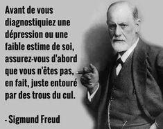 Sigmund Freud , et c'est LUI qui le dit ? Quotes Español, Yoga Quotes, Best Quotes, Motivational Quotes, Funny Quotes, Inspirational Quotes, Peace Quotes, Sigmund Freud, Positive Mind