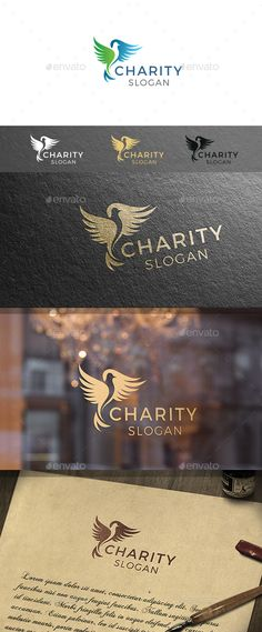 Charity Bird Logo Template — Vector EPS #dove #organic • Download ➝ https://graphicriver.net/item/charity-bird-logo-template/19081347?ref=pxcr