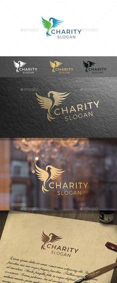 Charity Bird Logo Template — Vector EPS #dove #organic • Download ➝ https://graphicriver.net/item/charity-bird-logo-template/19081347?ref=pxcr