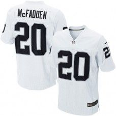 ... Nike Mens Oakland Raiders Darren McFadden Jersey 20 Game Team Color  White ... 74a6a58a1