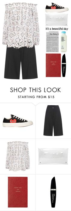 """4.781"" by katrina-yeow ❤ liked on Polyvore featuring Play Comme des Garçons, Y-3, Zimmermann, 7 For All Mankind, Smythson and Max Factor"