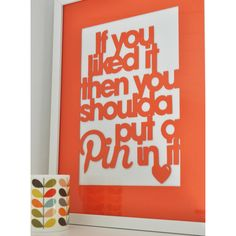Papercut 'Pin it' Poster £12.00 from love poppet
