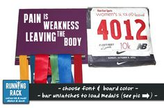 Pain is Weakness Leaving the Body por RunningRack en Etsy