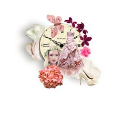 A fashion look from July 2014 featuring platform pumps, bride hair accessories and flower hair clips. Paris Hilton, Polyvore Fashion, Fashion Boards, Rose, Design, Pink, Roses