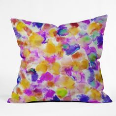 Amy Sia Amaris Yellow Throw Pillow | DENY Designs Home Accessories