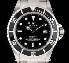 Rolex Stainless Steel Black Dial Sea-Dweller Gents B&P 16600