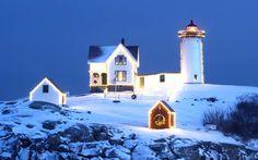 Snowy Nubble Light, Cape Neddick, Maine