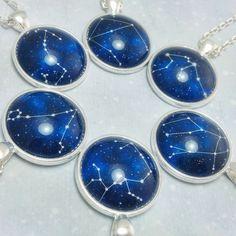 Zodiac necklaces! Jewelry Box, Jewelery, Jewelry Accessories, Jewelry Necklaces, Jewelry Making, Unique Jewelry, Age Of Aquarius, Ex Machina, Precious Metal Clay