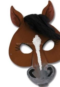 Kindermasken Pferd Pack Pure joy for children! The animal mask has pre-printed contours on one side and is blank. Kids Horse Costume, Horse Costumes, Crafts To Do, Crafts For Kids, Arts And Crafts, Halloween Masks, Halloween Fun, Paper Plate Animal Masks, Animal Mask Templates