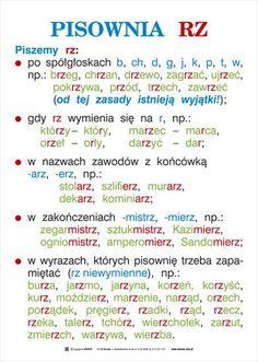 ortografia i gramatyka - kas. Polish To English, Learn Polish, Polish Language, Gernal Knowledge, School Subjects, Study Tips, Teaching English, Learning Activities, Kids And Parenting