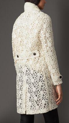 Manteau en dentelle à motif floral | Burberry