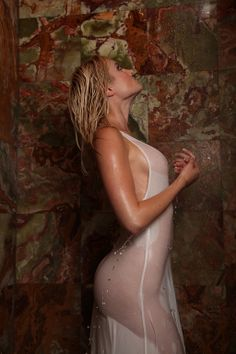 Girl In Water, Wet Look, Lust, Boobs, Lingerie, Sexy, Model, Addiction, Beauty