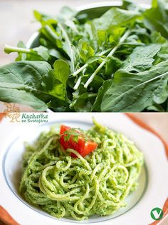 Kuchařka ze Svatojánu Pesto, Spaghetti, Healthy Recipes, Healthy Food, Ethnic Recipes, Ayurveda, Fitness, Healthy Foods, Healthy Food Recipes