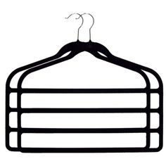 Add shower curtain rings to a hanger like this to store all scarves without breaking the hanger.