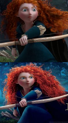 """Brave - Princess Merida-today, watching """"Brave"""", the students were going on and on about how Princess Merida looked just like me. My response: """"That's pretty unfortunate for her, I'd say!"""""""