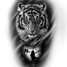 Tiger Head Tattoo, Tiger Tattoo Sleeve, Head Tattoos, Lion Tattoo, Cat Tattoo, Body Art Tattoos, Sleeve Tattoos, Tattoo Sketches, Tattoo Drawings