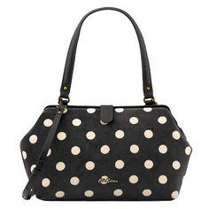 Button Spot Velvet Frame Handbag