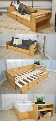 64 Ideas For Pallet Furniture Diy Sofa Spaces - Food Drink Furniture Fitness Skin Care Casual Outfits Humor Funny Quotes Tattoos Gardening Animals - Design Rattan Furniture Diy Sofa, Diy Furniture Couch, Office Furniture, Furniture Ideas, Sofa Ideas, Furniture Design, Wooden Furniture, Funny Furniture, Crate Furniture