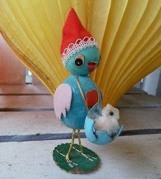 Bluebird mom with chick