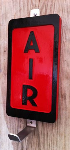 garage air hose service sign with hose hook eco station hot rod vintage rat rod ebay. Black Bedroom Furniture Sets. Home Design Ideas