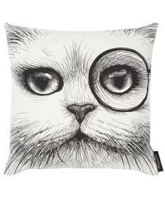 RORY DOBNER  CHESHIRE CAT WHITE CUDDLY CUSHION