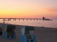 Inselzauber Zinnowitz - Sonnenuntergang an der Seebrücke