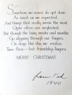 Merry Christmas Quotes : Christmas card Eddie Ross found in a flea market bundle Holiday Quotes Christmas, Christmas Card Verses, Christmas Sentiments, Card Sentiments, Noel Christmas, Country Christmas, Christmas Wishes, Christmas Greetings, Vintage Christmas