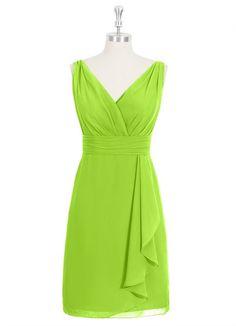 Azazie Iliana in Lime Green