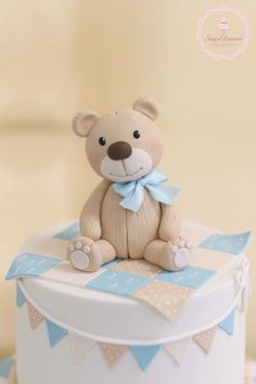Image result for vintage look fondant teddy bear