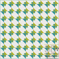 Pezzo N Quilt: come: Steccato Quilt Block - 30 giorni di cucito Quilt Blocks