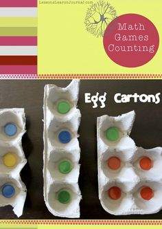 A fun math game to develop early counting skills: one-to-one correspondence via @Pauline Hoch @ Lessons Learnt Journal   #counter #mathgames #number