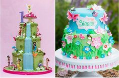 flower fairy cakes by the Royal Bakery left and Sugar Sweet Cakes and Treats right