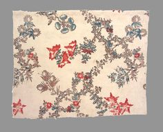 Textile, printed (Fragment) c1755-1765, France, Cotton Block printed, Woven (plain), Mordant style Museum Object Number: 1956.0056.014