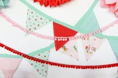 Decorate your party with these adorable bunting flags. #DIY #party #decor