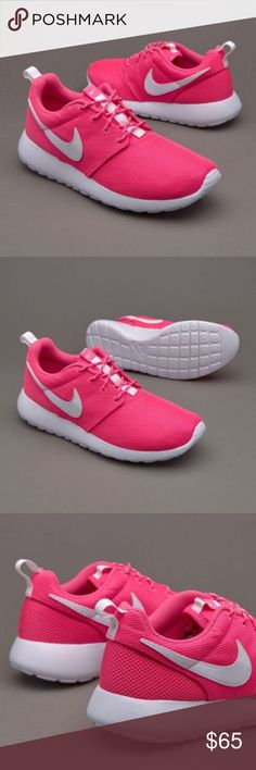 Nike Roshe One (GS) Youth ✨Color: Pink Blast / White ✨Available Sizes: -4.5 Kids = 6.5 Woman -5 Kids = 7 Woman -5.5 Kids = 7.5 Woman -6 Kids = 8 Woman -6.5 Kids = 8.5 Woman -7 Kids = 9 Woman   ❤️The Nike Roshe One delivers impact style and comfort with a full mesh upper and EVA foam outsole, ultra-lightweight and breathable.  NEW with original box no lid ! Thanks for shopping @toowendy ! 😊 Nike Shoes Athletic Shoes