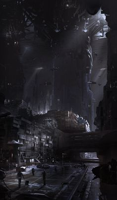 original digital art 'underground coruscant' by bruno werneck / filmpaint