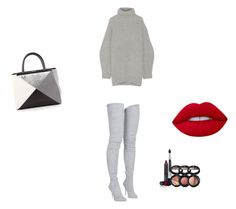 """Untitled #53"" by itaayu on Polyvore featuring Acne Studios, Balmain, Lime Crime, Laura Geller and Fendi"