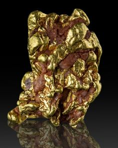 """""""Gold Nugget - California This is a collector quality nugget which was collected in the late 1890s, from an historically significant locality - not far upstream from Sutter's Mill in California, where the 1849 Gold Rush started."""""""