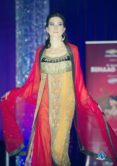 Model walks the ramp for the 5th Annual Suhaag Show held in Ottawa on November 24th, 2013. Photo by: Smiles Photography #southasian