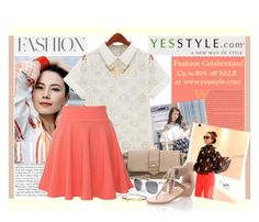 """""""YesStyle Fashion Celebration"""" by elena-indolfi ❤ liked on Polyvore featuring Aiaiwan, Eloqueen, yeswalker, Una-Home, QNIGIRLS, PINKFIT and JY Shoes"""