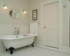 Modern Wainscoting | Bath Design | Monochrome | Modern Decor | Wainscoting | Country White ...