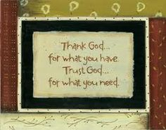 =) He will supply your every need!!!