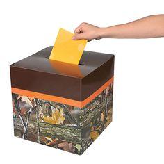 Camouflage Wedding Card Box - OrientalTrading.com