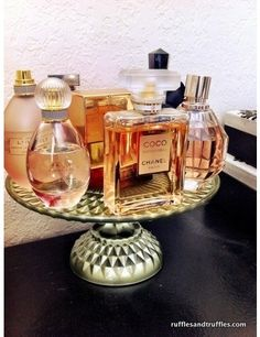 Cake stand for perfume.