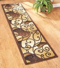 Add beauty to the high-traffic areas of your home with an Extra-Long Decorative Runner Rug. The durable olefin rug is abrasion-, stain- and sunlight-resistant. Jute backing helps stabilize the rug so
