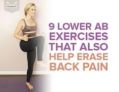 Here's a double whammy: These nine simple lower ab exercises will sculpt and tone your abs while easing your back pain, too! Lower Ab Workouts, Back Pain Exercises, Fun Workouts, Ab Exercises, Stretches, Lower Back Muscles, Lower Abs, Isometric Exercises, Tight Abs