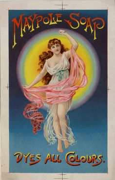 Vintage Trade Card - Maypole Soap Dyes All Colours.