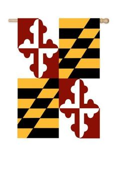"""Maryland State Flag (Garden) by House-Impressions. $11.99. Fade-resistant colors. Hand-crafted. Approximate dimensions are 12.5"""" x 18"""". Made of high quality fabric materials. Share your state pride with this top of the line embroidered applique flag. Made of heavy duty, weather resistant nylon fabric and embroidered with precision and attention to detail, this flag will proudly display where you're from. Flags are the greeting card of your home! Add a piece of colorful and we..."""