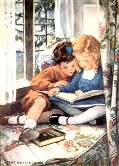 ONCE UPON A TIME:  brother taught her how to read !